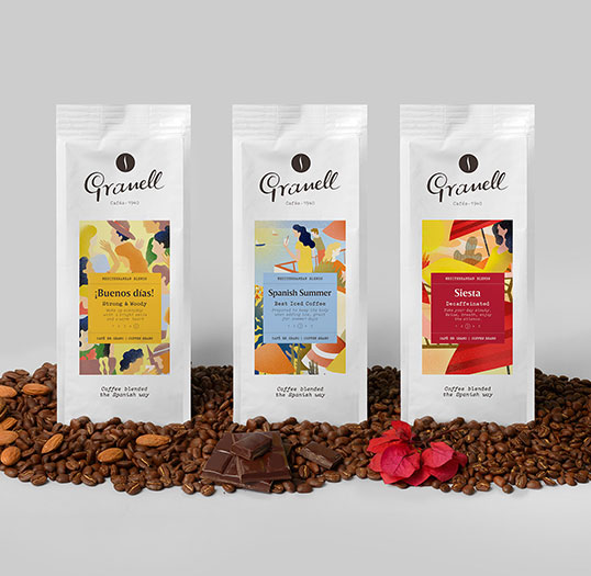 Packaging design Granell Coffee